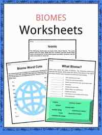 Biome Facts & Worksheets