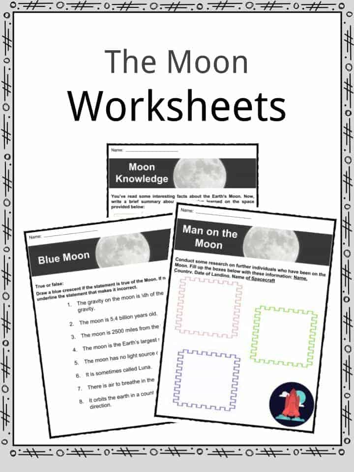 The Moon Facts, Worksheets & Lunar Satellite Information