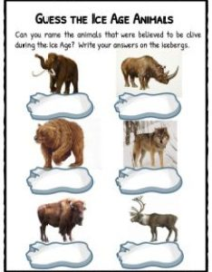 Guess the ice age animals also facts  worksheets for kids historical information rh kidskonnect