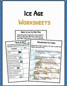 Ice age facts  worksheets also for kids historical information rh kidskonnect
