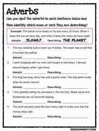 Adverb Worksheets 5Th Grade Free Worksheets Library ...