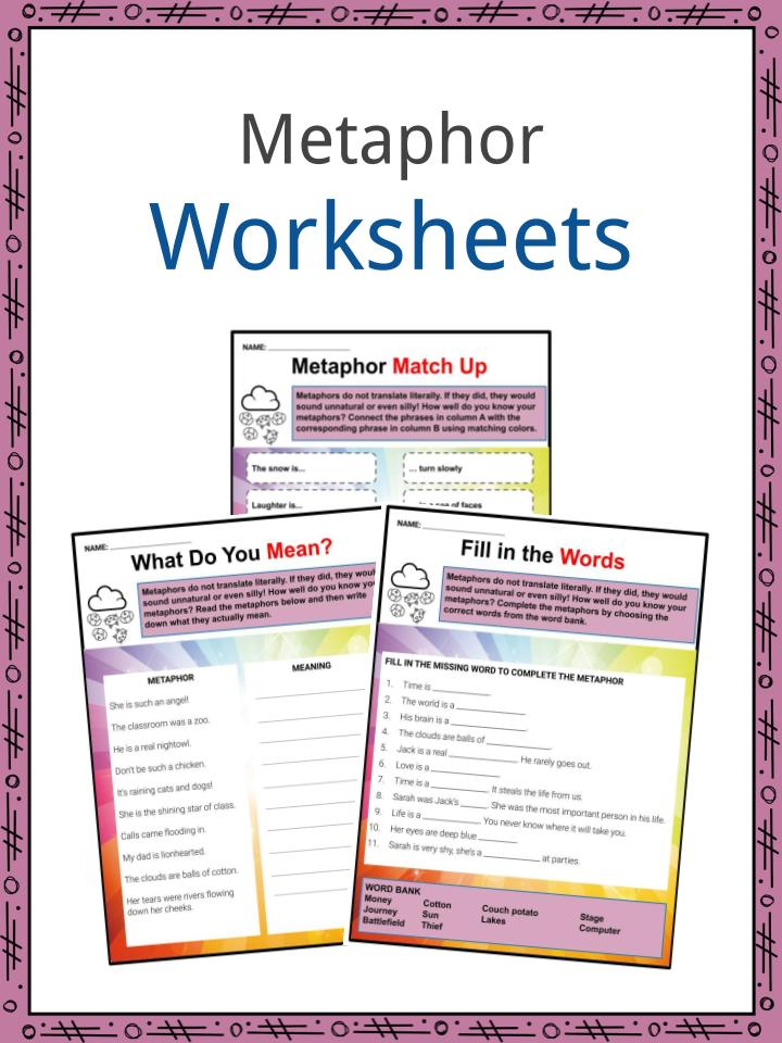 Metaphor Examples, Definition and Worksheets   What is a
