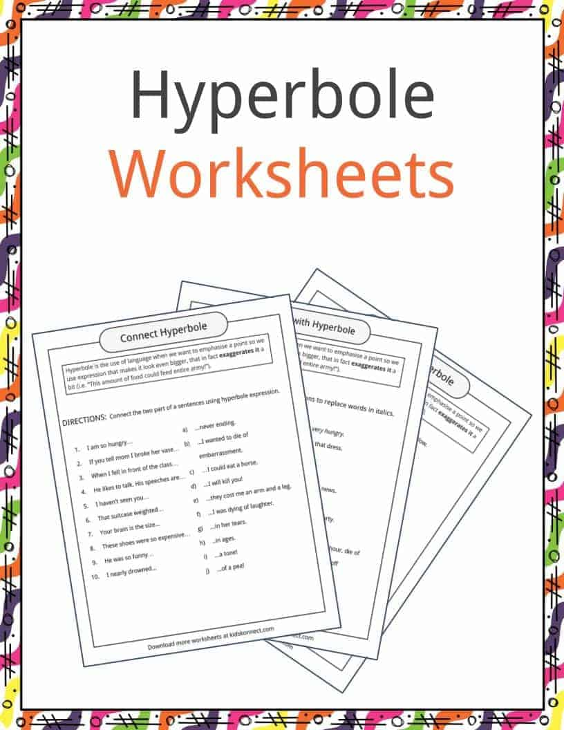 Hyperbole Examples, Definition & Worksheets