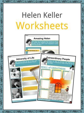 Helen Keller Worksheets