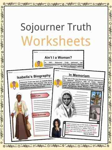 Sojourner Truth Worksheets