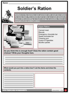 World War I Trench Facts, Worksheets & Life in Trenches For Kids