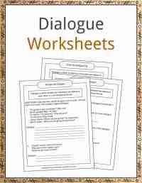worksheet. Writing Dialogue Worksheet. Worksheet Fun ...