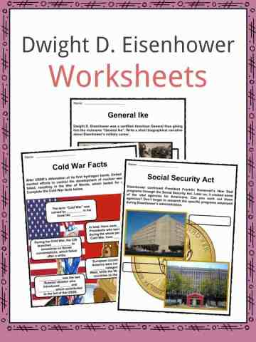 Dwight D. Eisenhower Worksheets