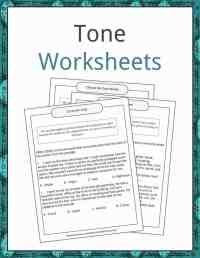 Tone Examples, Definition and Worksheets | KidsKonnect