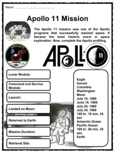 Buzz Aldrin Facts, Worksheets & Apollo 11 Mission For Kids
