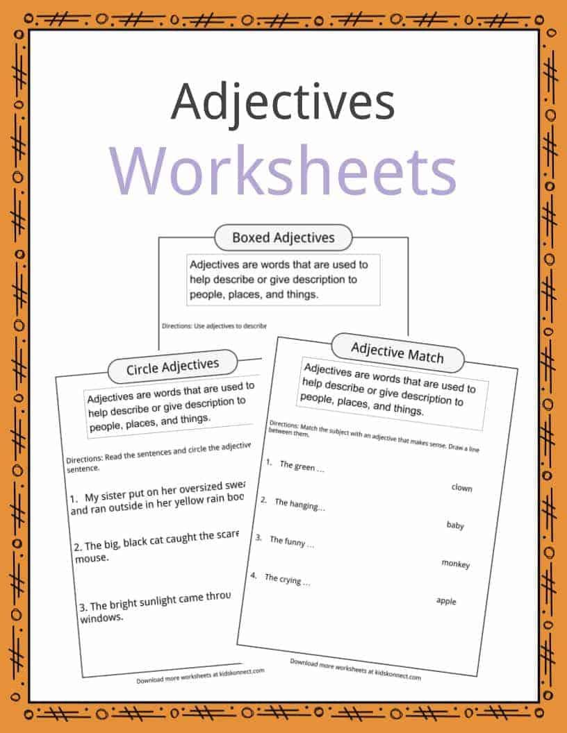 medium resolution of Adjectives Definition