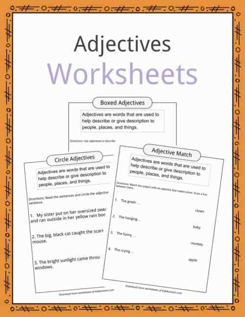 small resolution of Adjectives Definition
