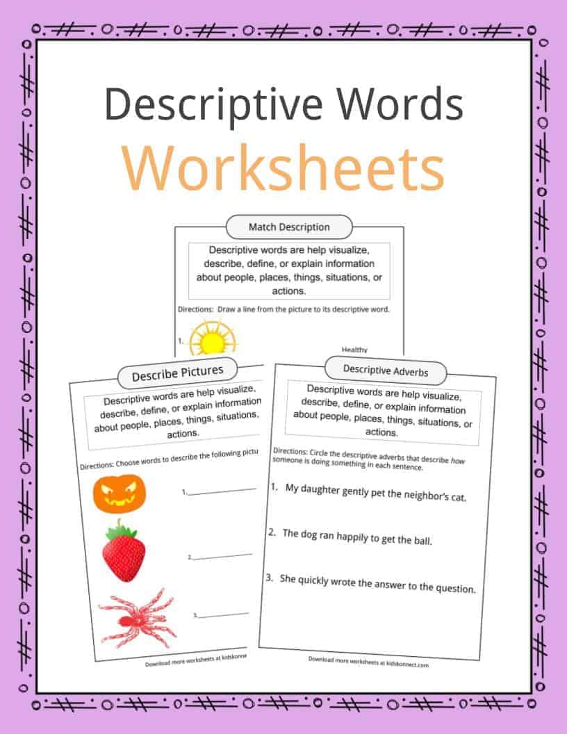 medium resolution of Descriptive Words Examples