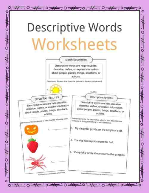 small resolution of Descriptive Words Examples