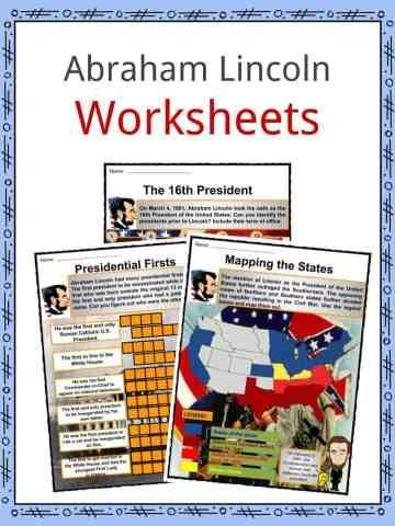 Abraham Lincoln Worksheets