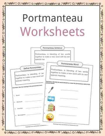Portmanteau Worksheets
