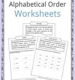 Alphabetical Order Worksheets [ 1056 x 816 Pixel ]