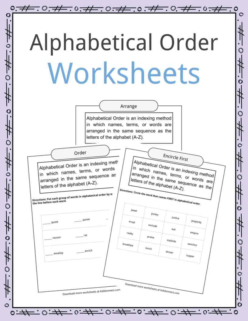 medium resolution of Alphabetical Order Worksheets