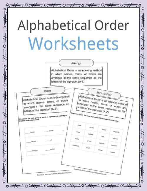 small resolution of Alphabetical Order Worksheets