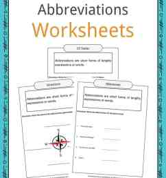 Abbreviations Worksheets [ 1056 x 816 Pixel ]