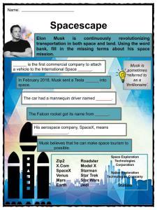 Elon Musk Facts, Worksheets, Ventures, Biography & Life For Kids
