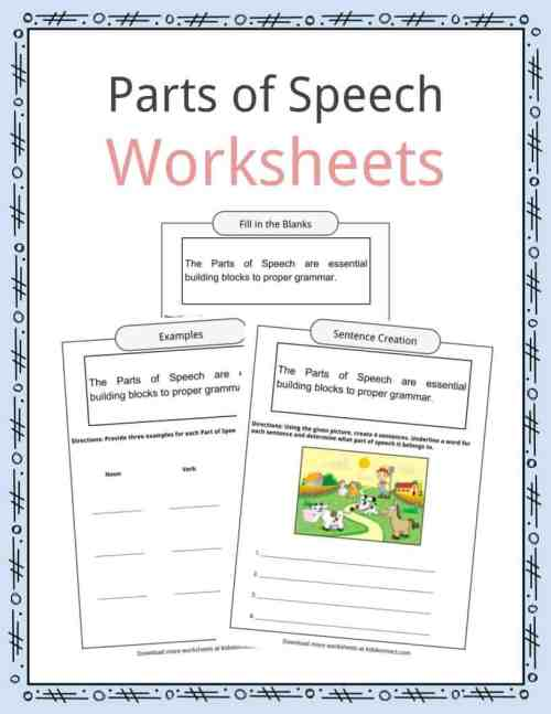 small resolution of Parts of Speech Worksheets