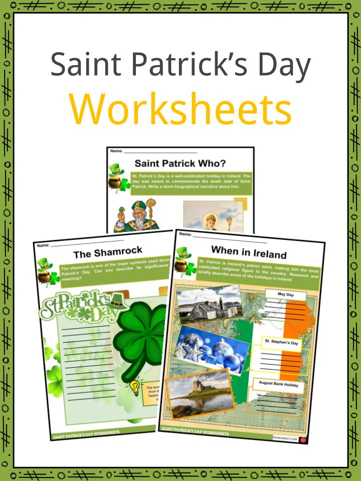 Saint Patrick's Day 2019 Facts, Worksheets & Information ...