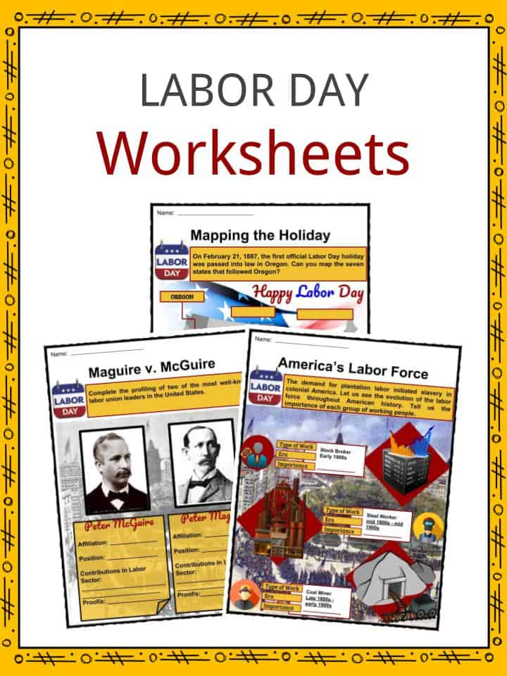 labor day facts worksheets