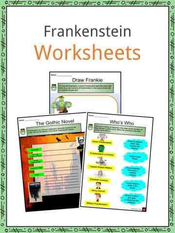 Frankenstein Worksheets
