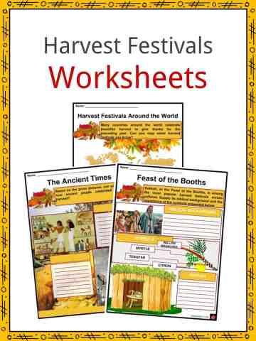 Harvest Festivals Worksheets