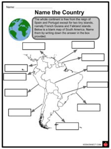 South America (Continent) Facts,Worksheets, Countries