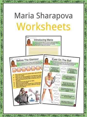 Maria Sharapova Worksheets