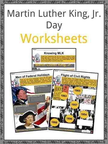 Martin Luther King, Jr. Day Worksheets