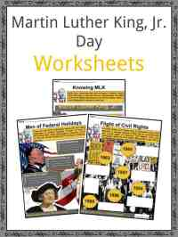Martin Luther King, Jr. Day Facts, Worksheets, History ...