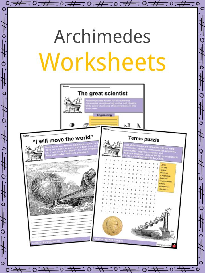 Archimedes Facts Worksheets Life Discoveries