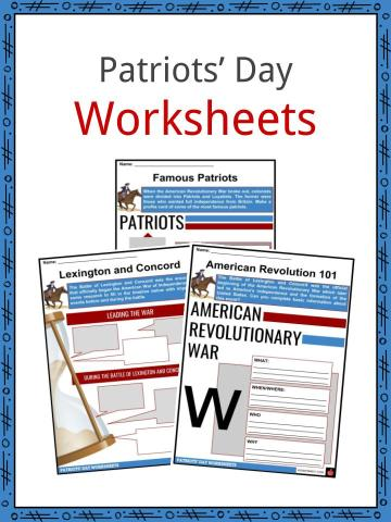 Patriots' Day Worksheets