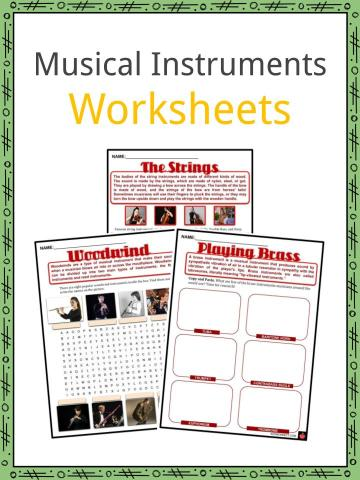 Musical Instruments Worksheets