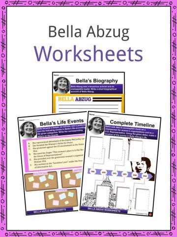 Bella Abzug Worksheets