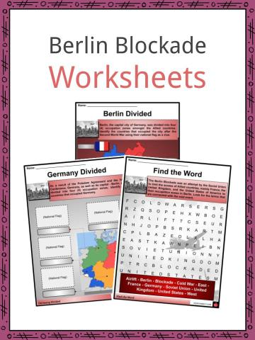 Berlin Blockade Worksheets