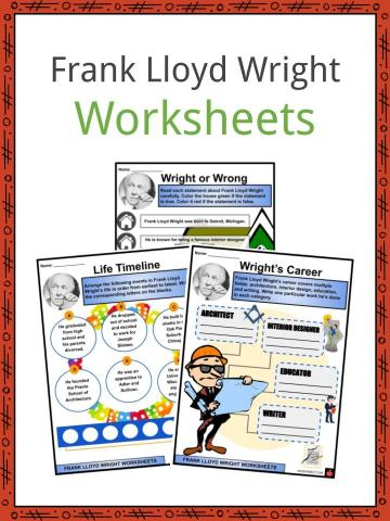 Frank Lloyd Wright Worksheets