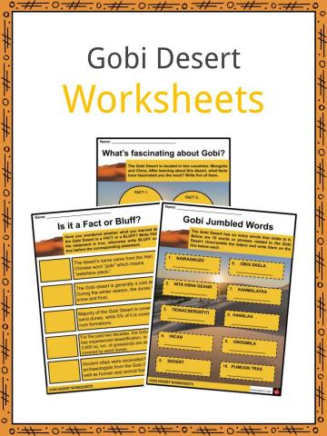 Gobi Desert Worksheet