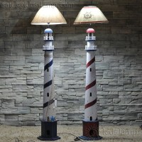 Kids bedroom wooden boat and lighthouse beach style floor ...