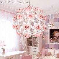 ceramic flower pendant lamps. Girls bedroom decoration ...