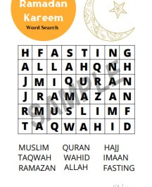 Ramazan word search