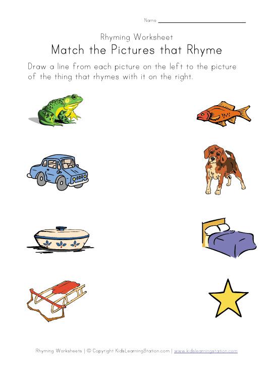 Printable Pictures Rhyming Words  Infocap Ltd