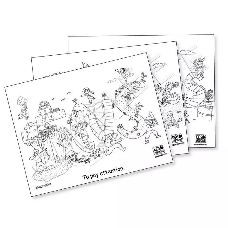 Complete Life Skills Coloring Sheet Collection
