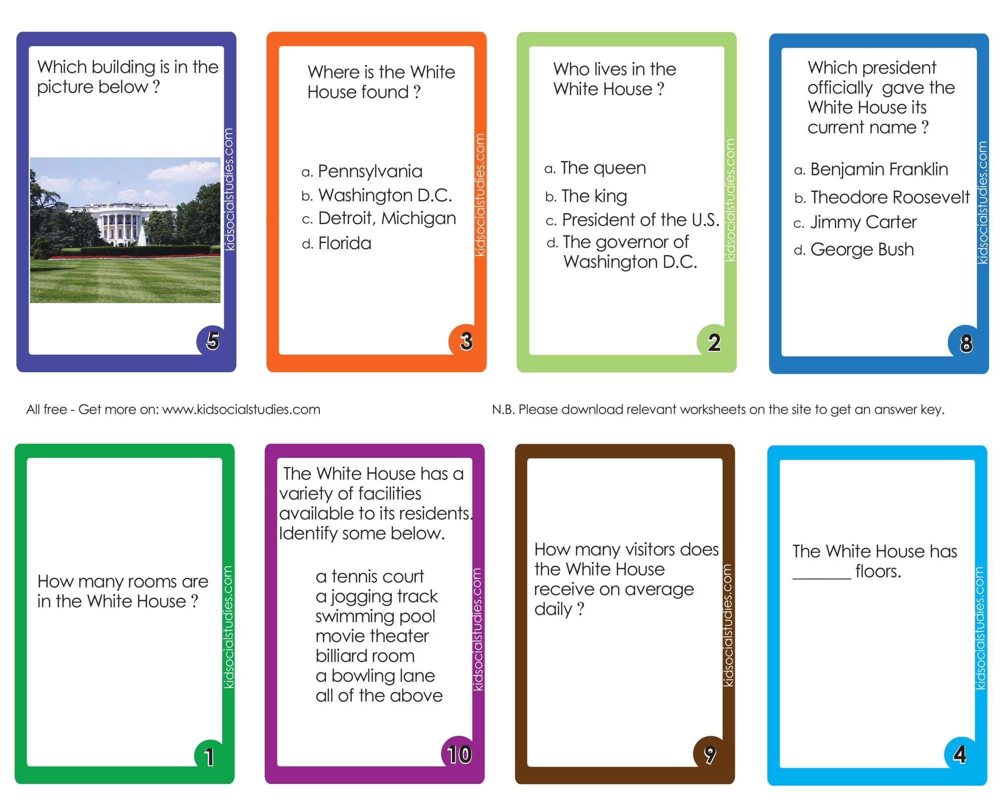 hight resolution of The White House Flash Cards PDF