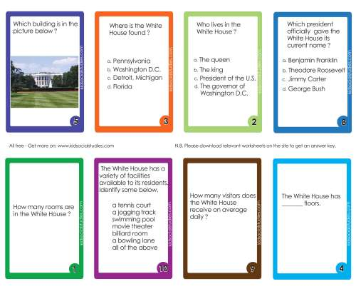small resolution of The White House Flash Cards PDF