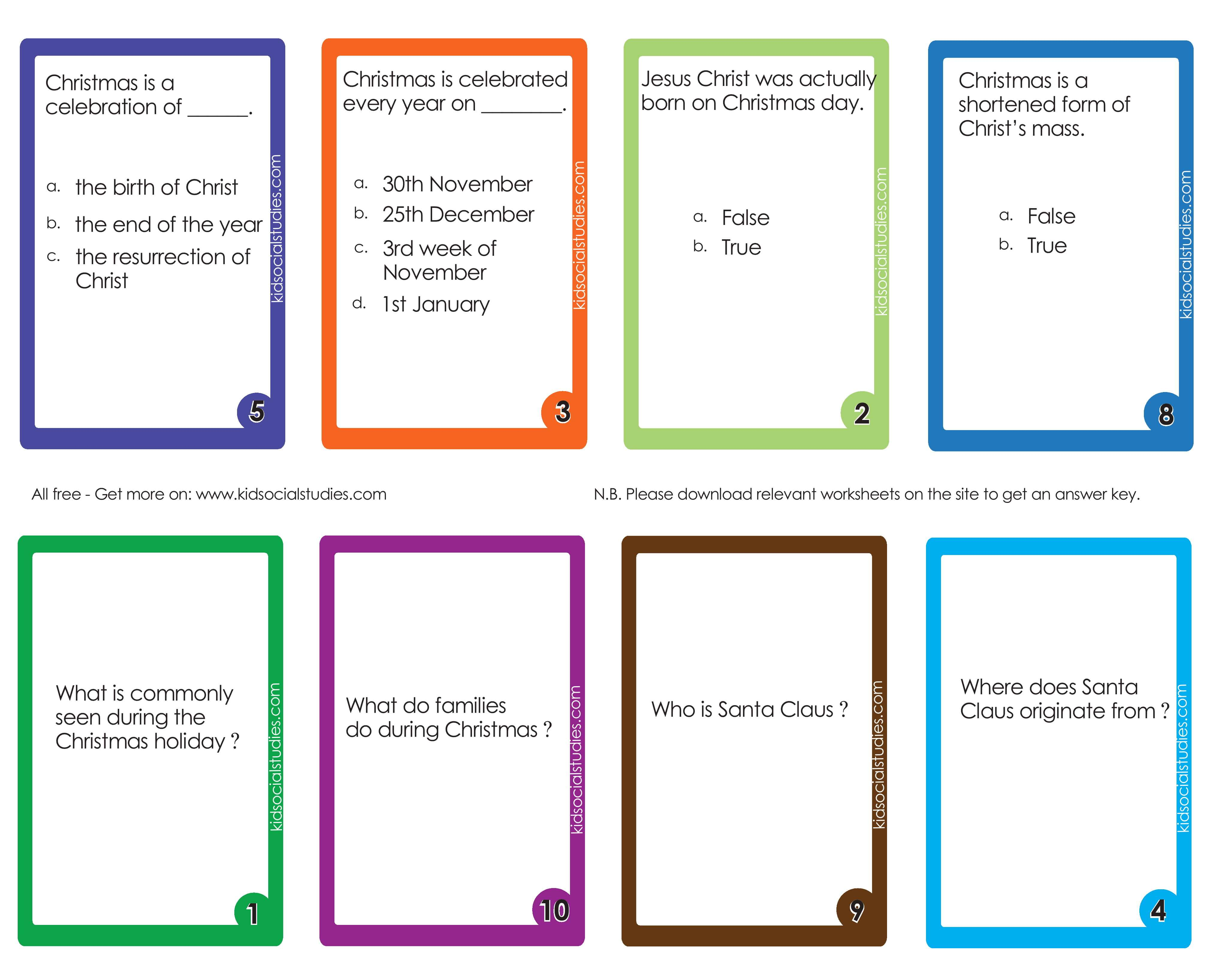 Christmas Day Flash Cards