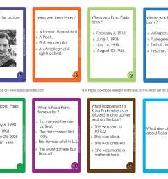 Rosa Parks Flash cards pdf printable downloads [ 3272 x 4031 Pixel ]